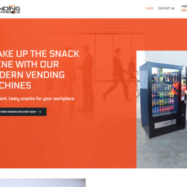Another website successfully completed for the leading provider of modern drink and snack vending machines throughout Sydney