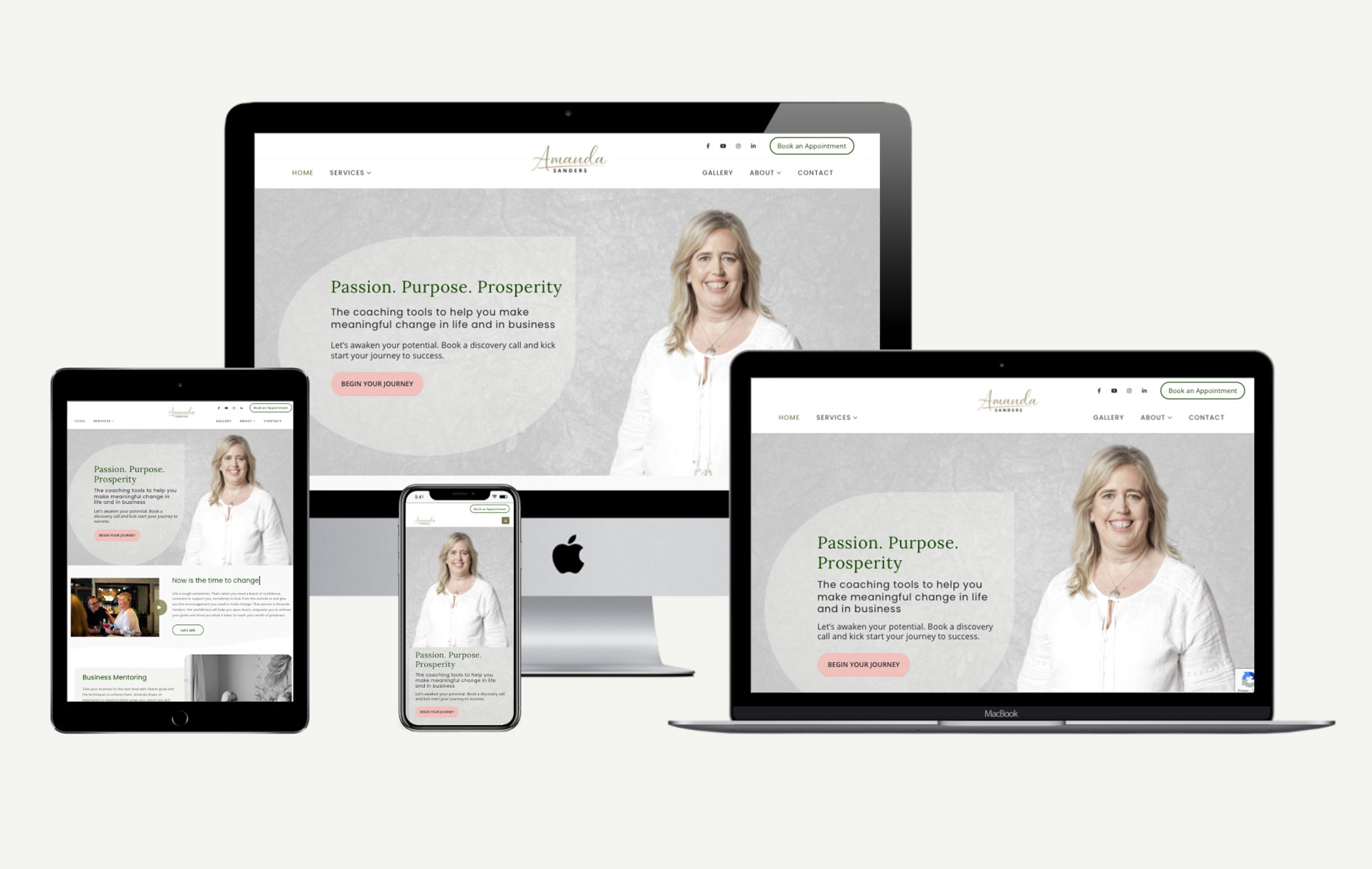 Another Website Design Project for Amanda Sanders