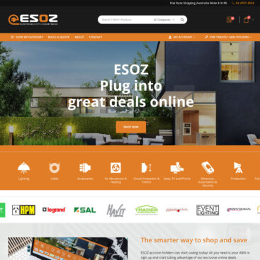 ESOZ-Electrical Website Homepage Design