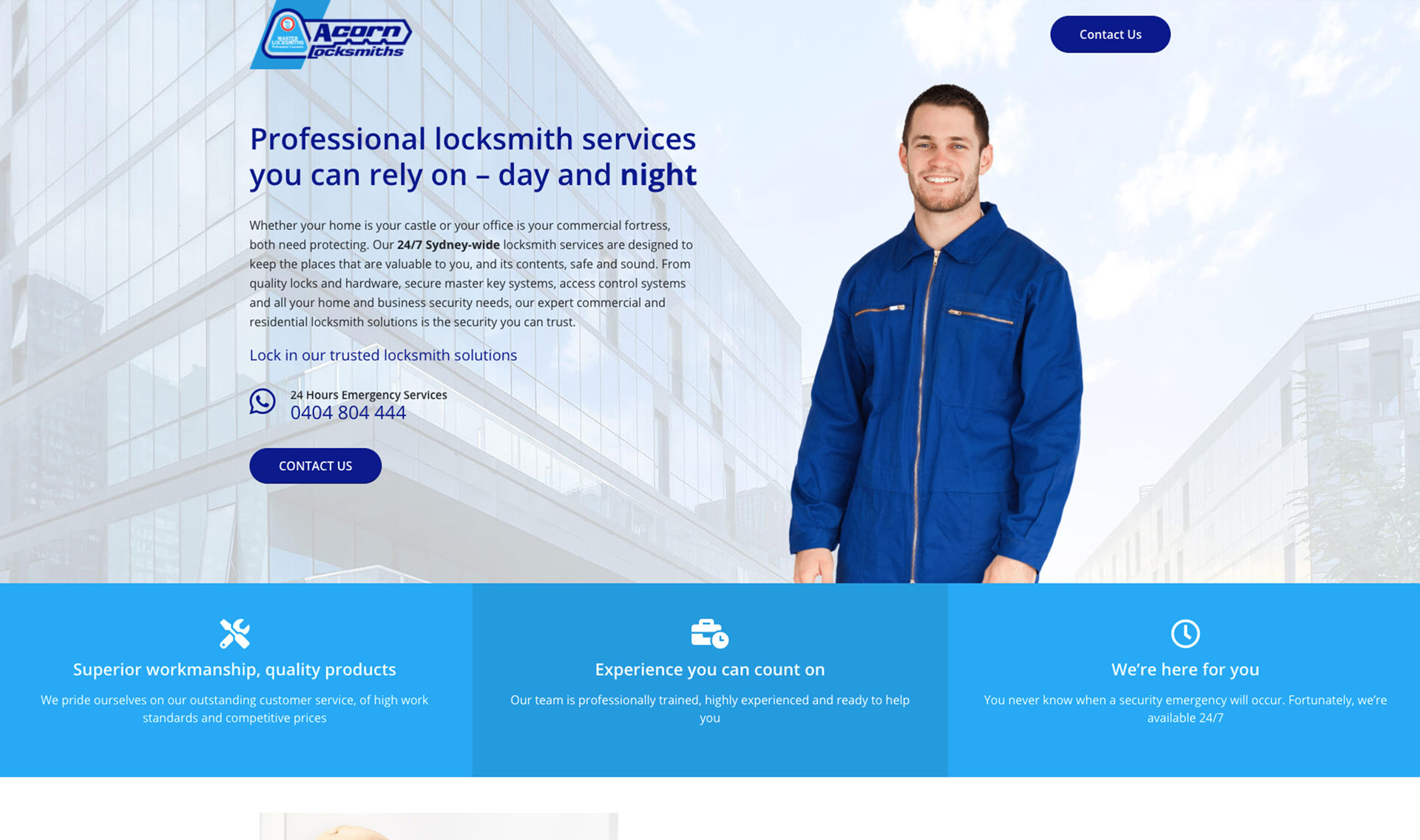 Website design for locksmith solutions