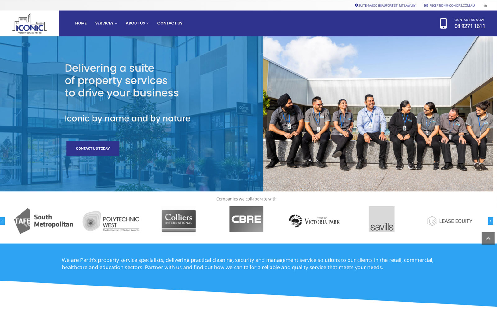 Another website successfully completed for Perth's property service specialists, Iconic Property Services.