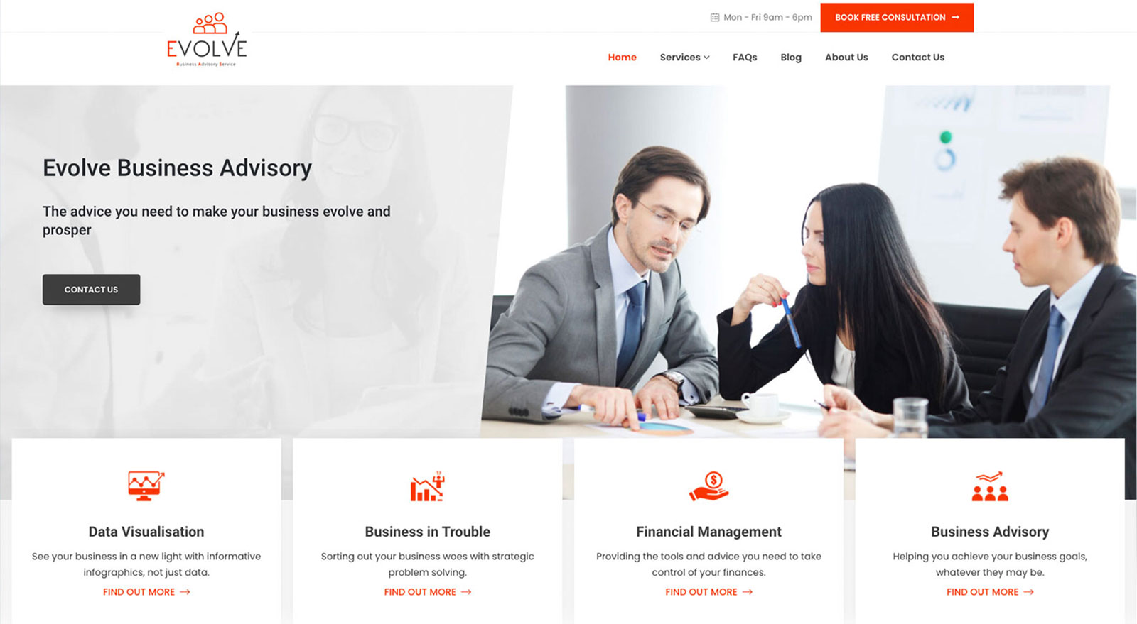 Responsive and mobile friendly website design