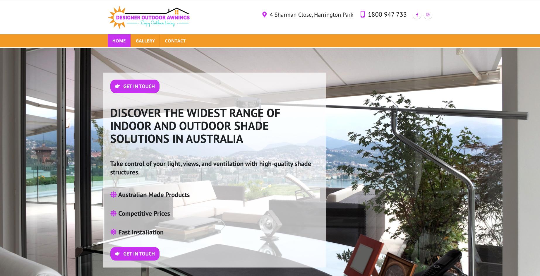 Netplanet Digital Client - Designer Outdoor Awnings