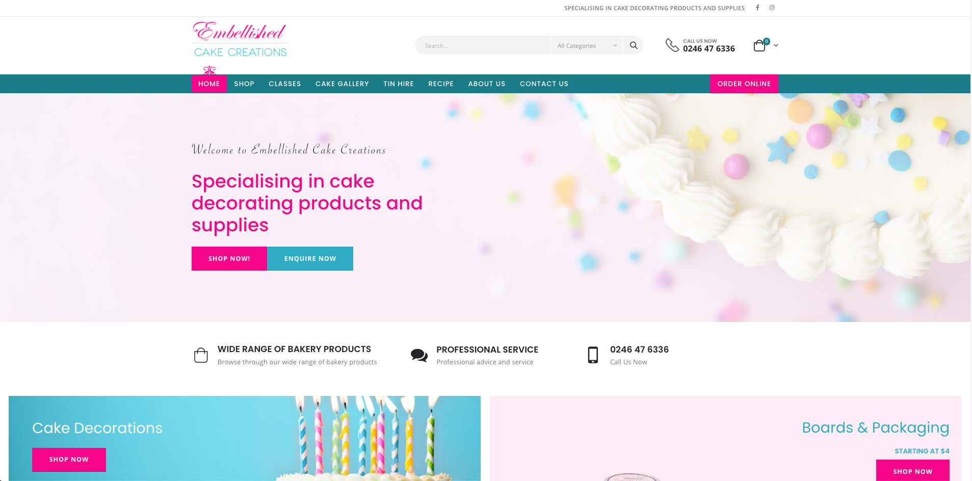 Embellished Cake Creations, specialising in cake decorating products and supplies