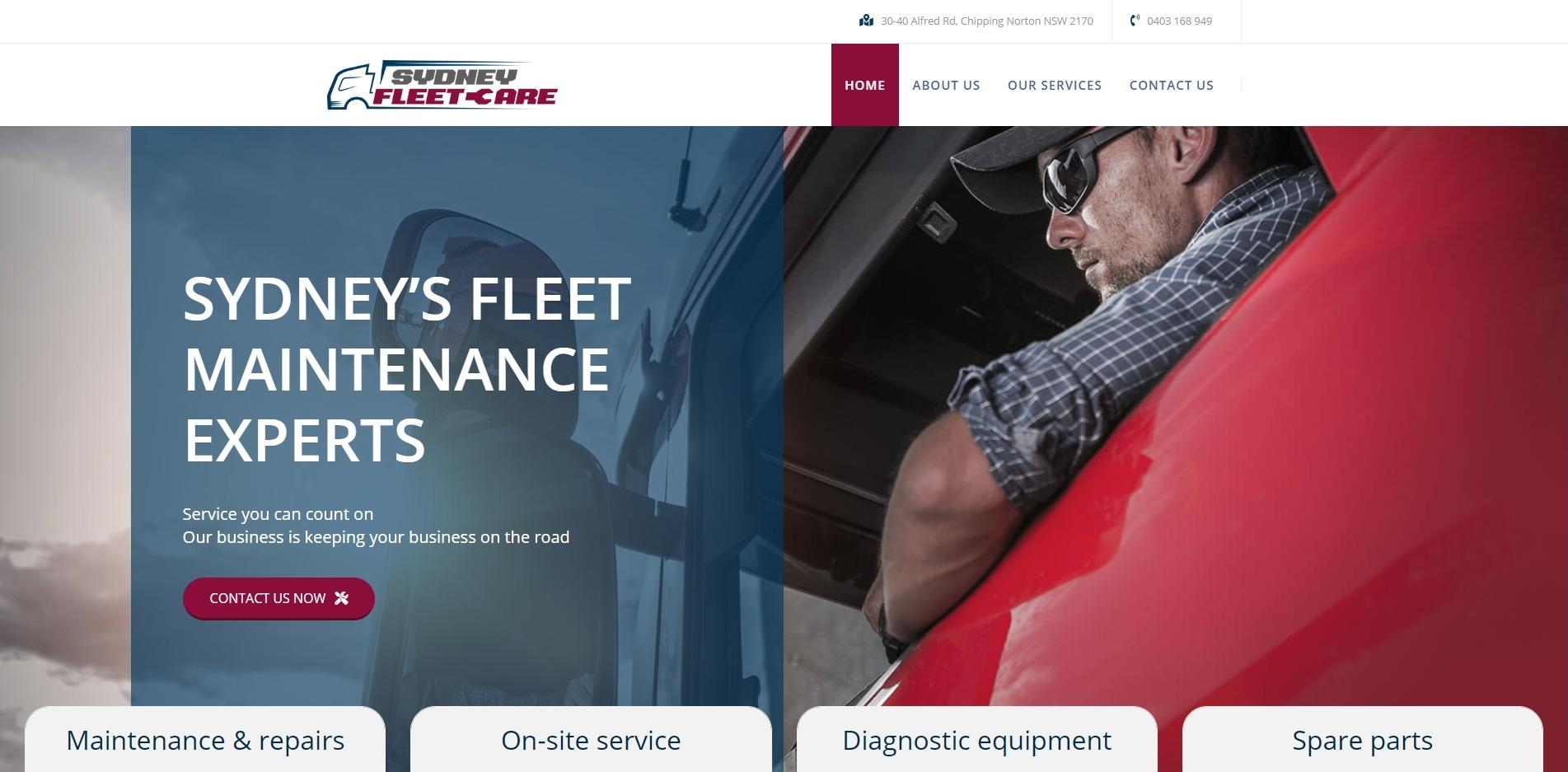 Website Design Sydney Fleet care